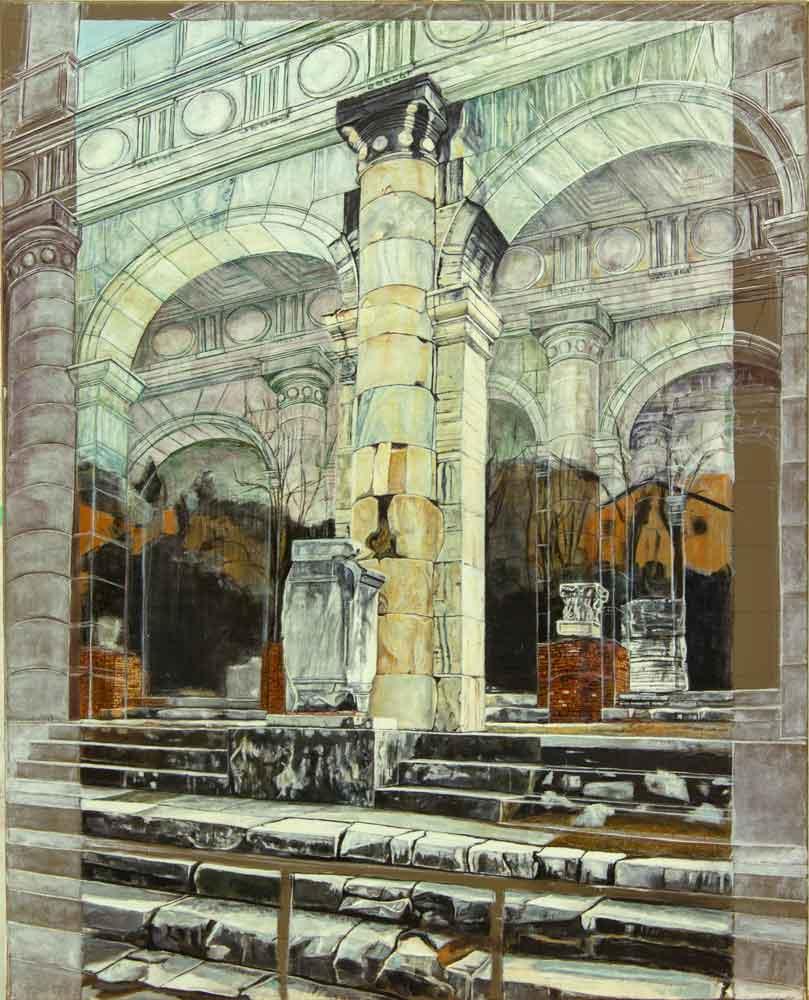 basilica-julia-(dettaglio)-olio-su-tela-cm.65x81-anno-2010